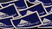 Apex Challenge cloth badges.